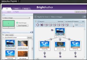 Gestaltungsprogramm für Digital Signage-Anwendungen